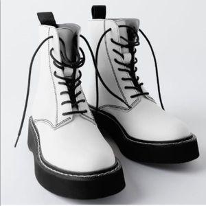 Zara white boots